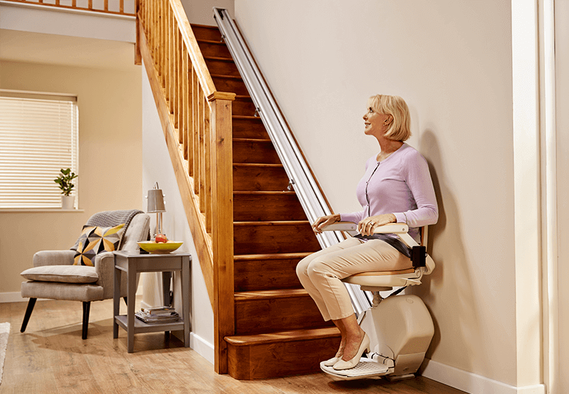 Image of Acorn Straight Stairlift side